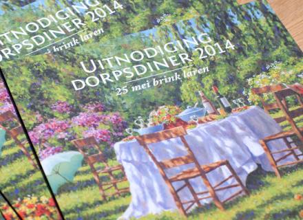 Ontwerp flyer promotie Dorpsdiner Laren 2014