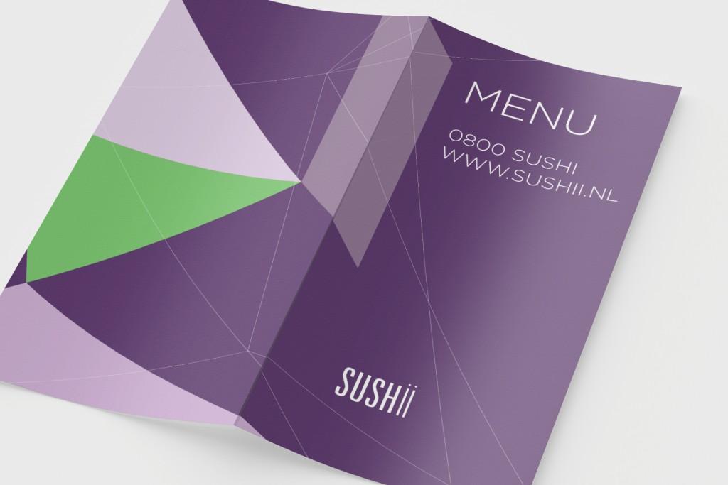 Bestellijst ontwerp sushi restaurant Sushii