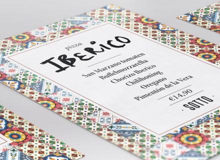Flyer ontwerp Pizza van de maand Iberico Sotto Amsterdam