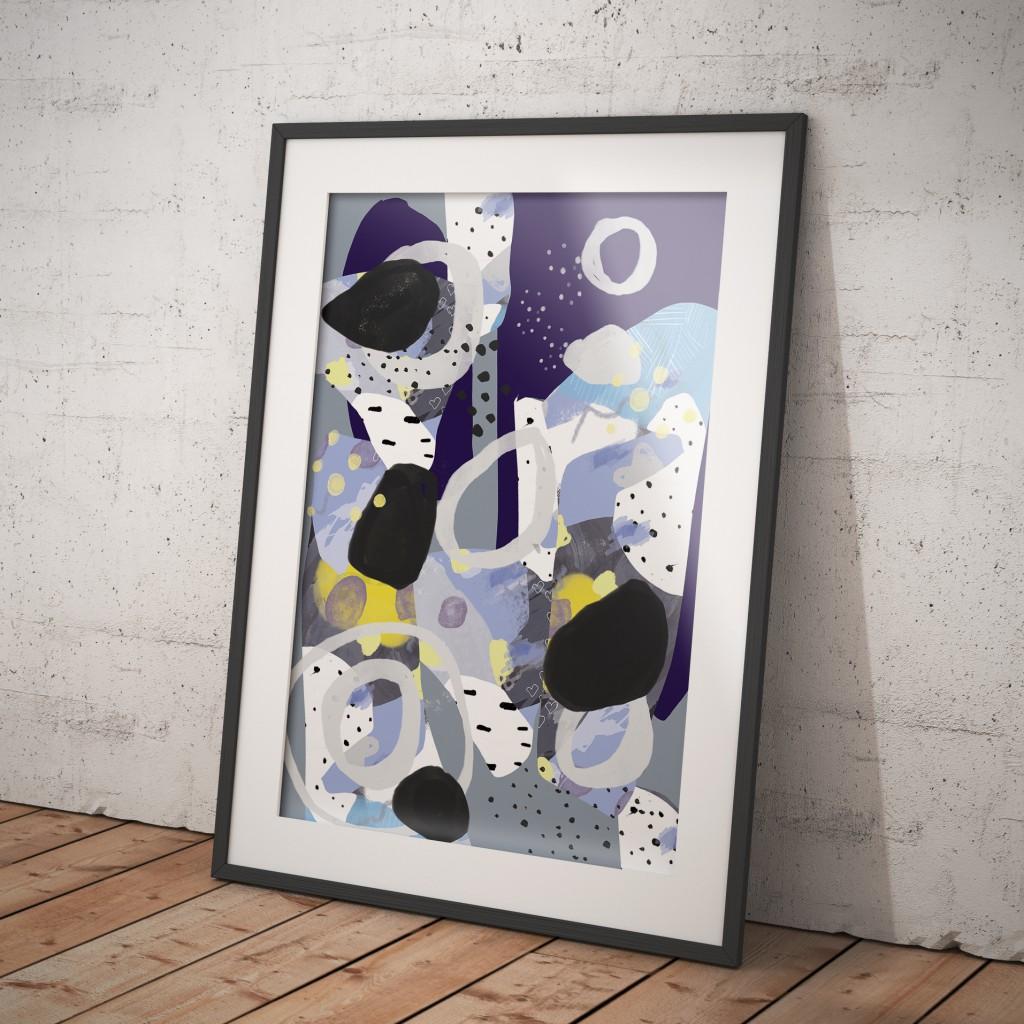 Handgetekend patroon poster