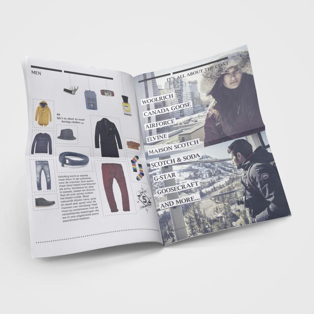 Jubileumkrant modezaak Denim Plus Bussum spread