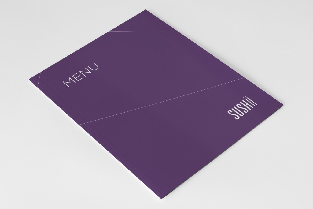 Menukaart ontwerp sushi restaurant Sushii