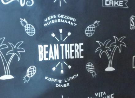 Muurschildering Bean There Diemen