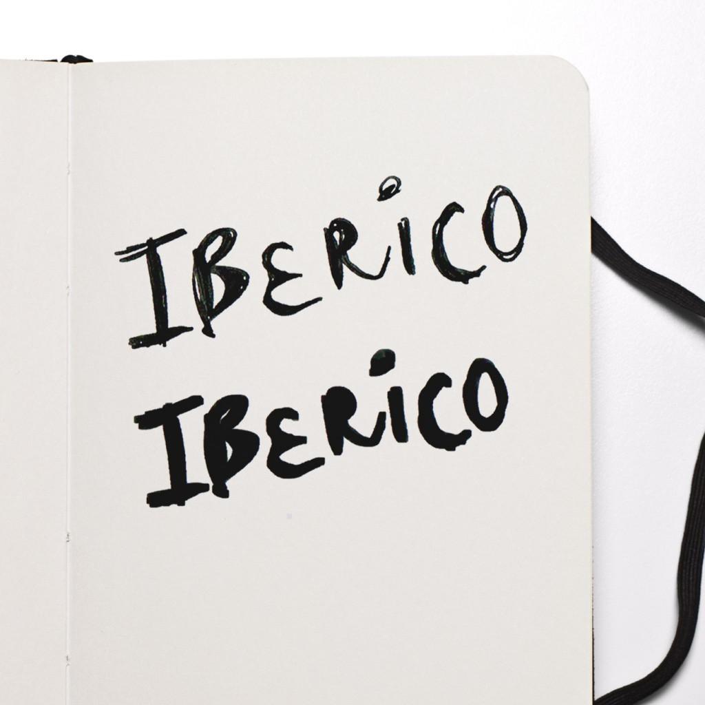 Schets handgeletterd Iberico