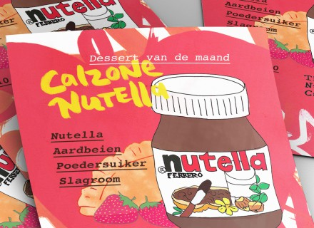 Stapel flyers Calzone Nutella